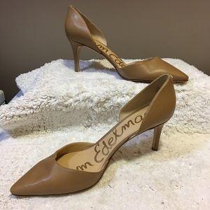 Sam Edelman TELSA Leather d'Orsay Pump Camel 10.5